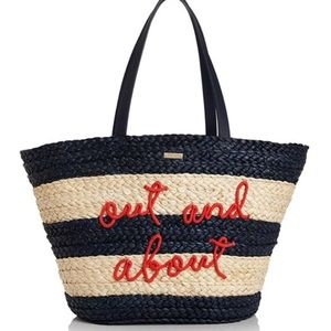 Kate spade out and about shore thing straw tote